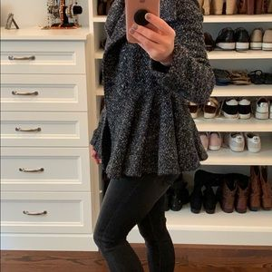 Gorgeous Free People Tweed Coat